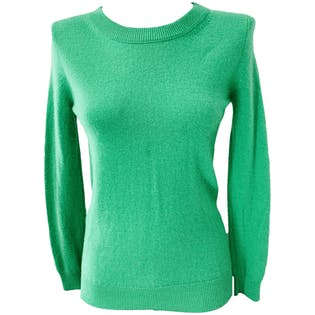 00's Green Crew Neck Cashmere Sweater by Enzo M