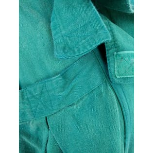 80's Teal Trench Dress