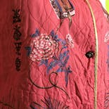 another view of 40's Coral Lounge Jacket Japanese Geishas by Miss Fashion