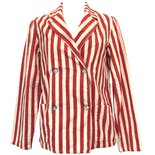 40's Red and White Striped Double Breasted Blazer