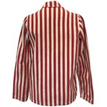 another view of 40's Red and White Striped Double Breasted Blazer