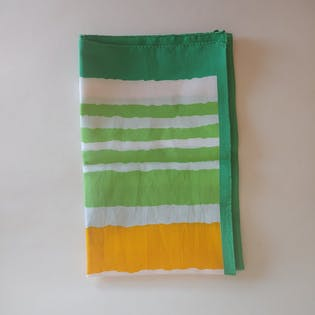 60's Green and Yellow Poly Scarf