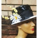another view of 60's Mod Patent Leather Hat by Frank Olive