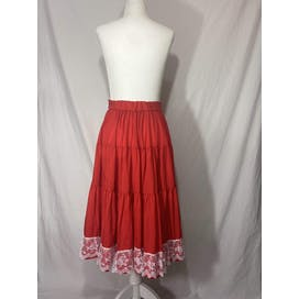 70's Lace Trim Patio Skirt by Rockmount Ranch Wear