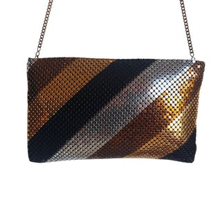 80's Metal Mesh Clutch Purse