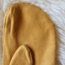 90's Suede Leather Mittens by Miu Miu