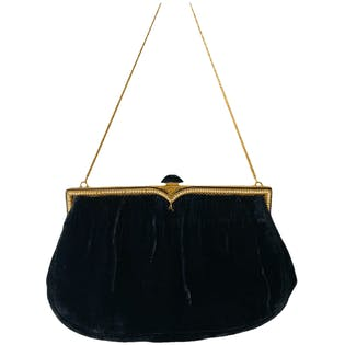 40's Velvet Chain Purse by Nelson Hickson