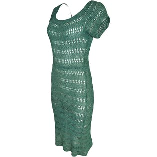 40's Green Ribbon Dress