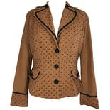 40's Polka Dot Buttoned Blazer by Bettie Page