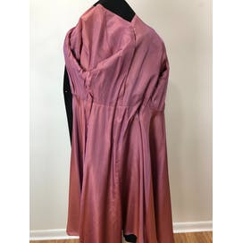 50's Rayon Faille Coat Dress with Mauve Lining