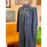 another view of 50's Blue and Green Plaid Day Coat by Debutogs