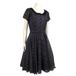 50's Navy Fit N' Flare Belted Dress