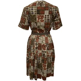 50's Clover Printed A-Line Dress by Lady Bird
