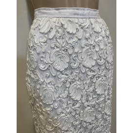 50's Cream Overlay Skirt