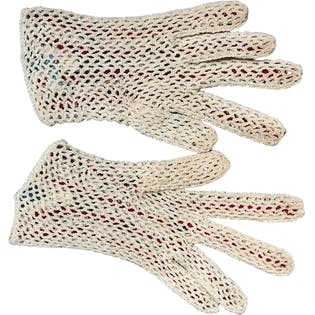 50's Crocheted Two Tone Victorian Gloves by Fabala