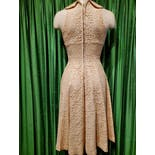 another view of 50's Cream Lace Fit N Flair Dress