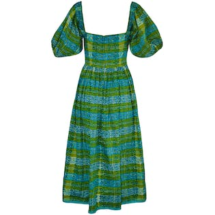 50's Blue and Green Dress by Cabana
