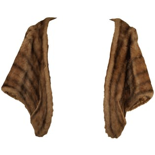 50's Brown Faux Fur Shawl