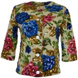 50's Sequin Flower Sweater