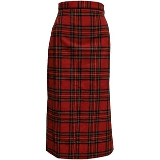 50's High Waisted Plaid Pencil Skirt