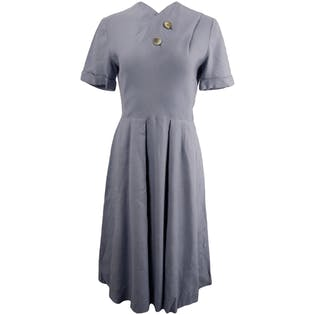 50's Lilac Linen Day Dress