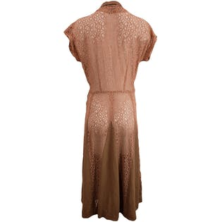 50's Tan Lace Summer Dress by Sun Seeker