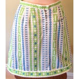 another view of 60's/70's Daisy Print Mini Skirt with Attached Shorts by Haymaker