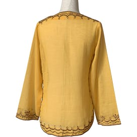 70's Embroidered Marigold Tunic