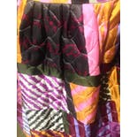 another view of 60's/70's Quilted Psychedelic Print Maxi Skirt