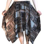 another view of 60's Boho Handkerchief Skirt