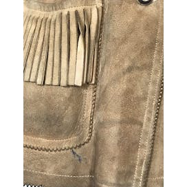 60's Brown Suede Leather Jacket with Fringe by Field Stream
