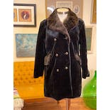 another view of 60's Faux Fur Gold Buttoned Coat