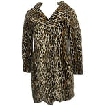 60's Leopard Print Coat with Pockets by Ping Kee Tailor