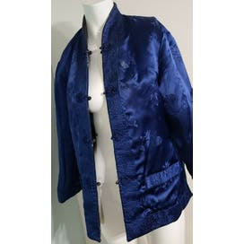 60's Mod Quilted Satin Jacket