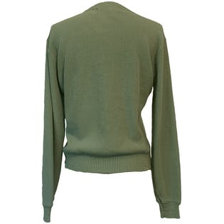 60's Pea Green Cardigan by Lady Antigua