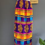 another view of 60's Psychedelic Paisley Skirt by Rhapsody by Glazier