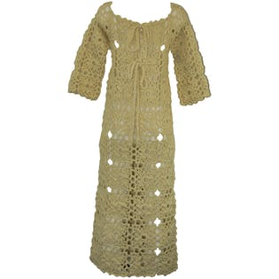 60's Crocheted Maxi Dress