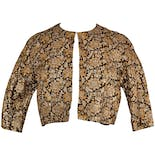 60's Crop Black and Gold Brocade Jacket