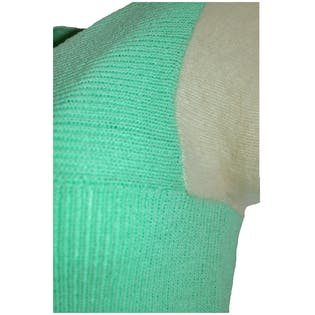 60's Mint Green Short Sleeve Sweater by Saks Fifth Avenue