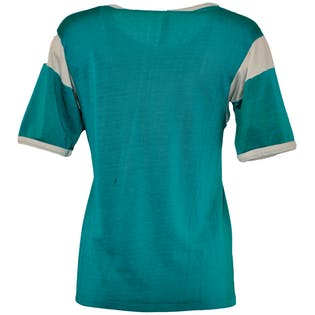 60's Teal Ringer T-Shirt by Rawlings