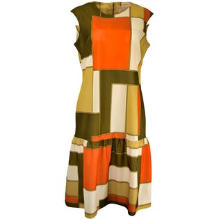60's Sleeveless Color Block Dress by Jeanne Durrell