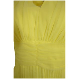 60's Yellow Pleated Maxi