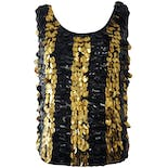 60's Black and Gold Large Sequin Tank Top