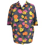 60's Buttoned Floral Blouse by Lady Manhattan