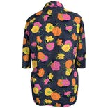 another view of 60's Buttoned Floral Blouse by Lady Manhattan