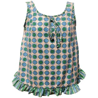 60's Circle Flower Power Top by Chas. L. Lewis