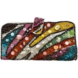 60's Embellished Beaded Shells Sequins Wallet
