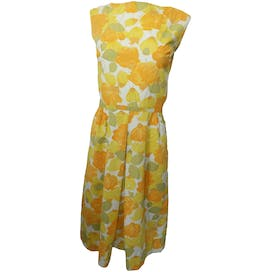 60's Orange and Yellow Floral Shift Dress