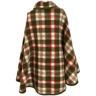 60's Plaid Wool Cape