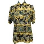 60's Yellow, Blue and Brown Hawaiian Shirt by South Pacific